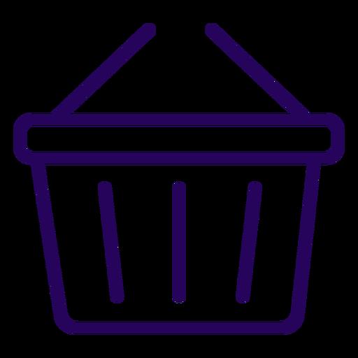 Icono de trazo de cesta de compras