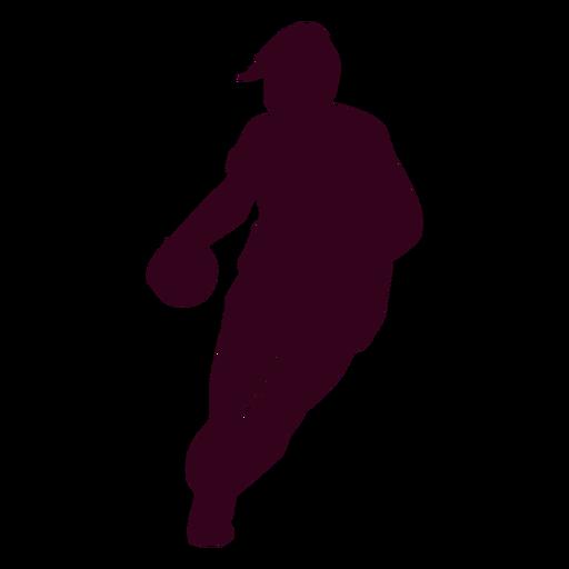 Jugador de balonmano femenino silueta
