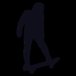 Silhouette female skater
