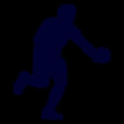 Jugador de balonmano tipo silueta