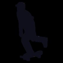 Silueta chico patinando