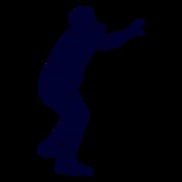 Jugador de deporte de balonmano de silueta