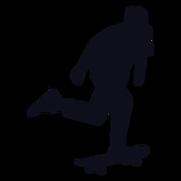 Silhouette male skater