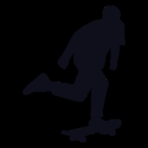 Silhouette männlicher Skater