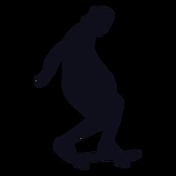 Skatista de homem de silhueta