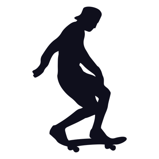 Silhouette man skater