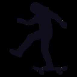 Silhouette woman skater