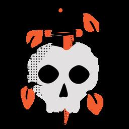 Skull dagger flat