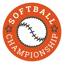 Softball championship badge