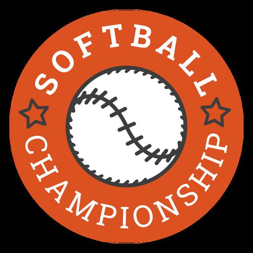 Insignia del campeonato de softbol