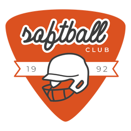 Softball club badge