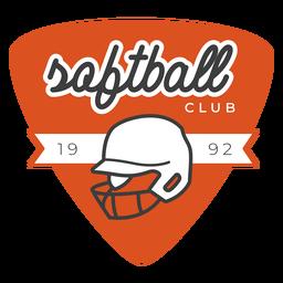 Softball club badge