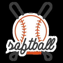 Softball league badge