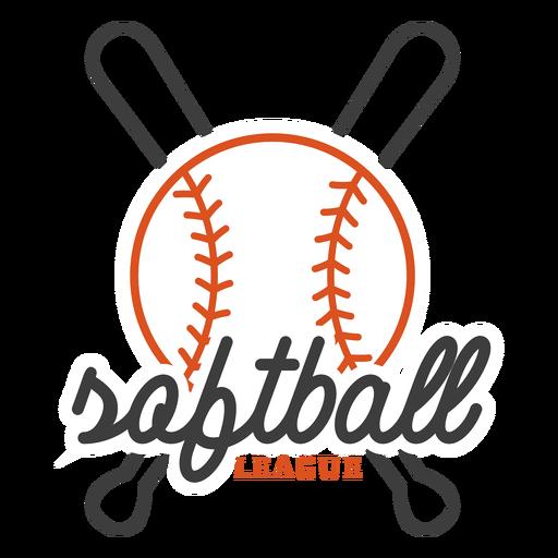 Insignia de la liga de softbol