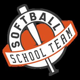 Softball school team badge