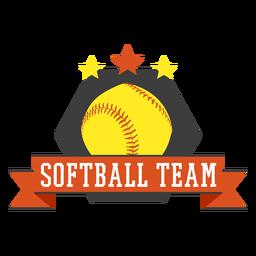Softball team badge