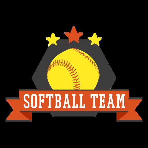 Distintivo da equipe de softbol