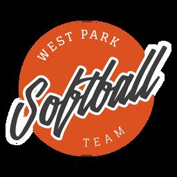 Distintivo de equipe de parque ocidental de softbol