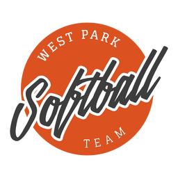 Softball west park team badge