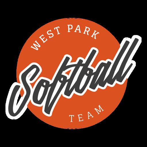 Softball west park team badge Transparent PNG