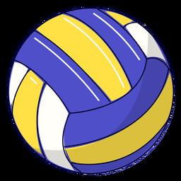 Ilustración de voleibol deportivo