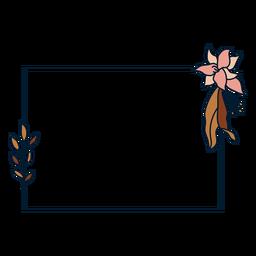 Square floral frame frame