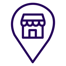 Store location stroke icon