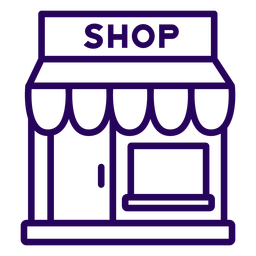 Icono de trazo de tienda