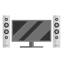 Television speakers flat