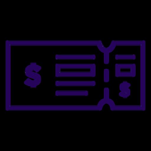 Ticket stroke icon