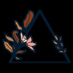 Marco floral triangular