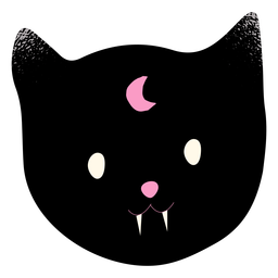 Vampir schwarze Katze strukturiert