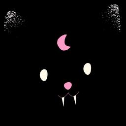 Vampire black cat textured