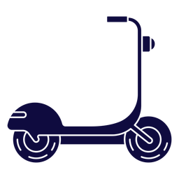 Vehicle scooter blue