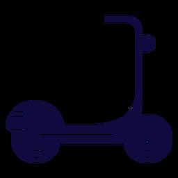 Vehículo scooter azul