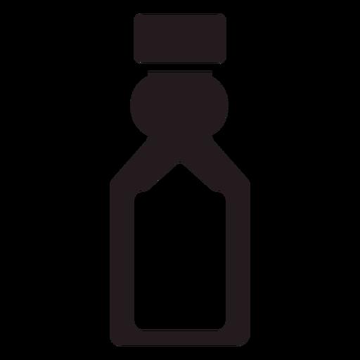 Botella de agua negra