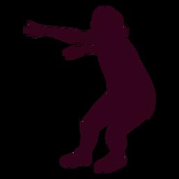Silueta de mujer balonmano jugador personas