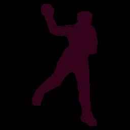Silueta de deporte de balonmano mujer
