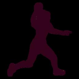 Mujer jugando silueta de balonmano