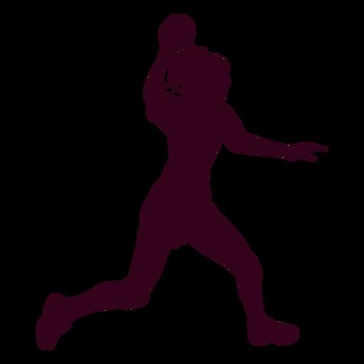Woman playing handball silhouette