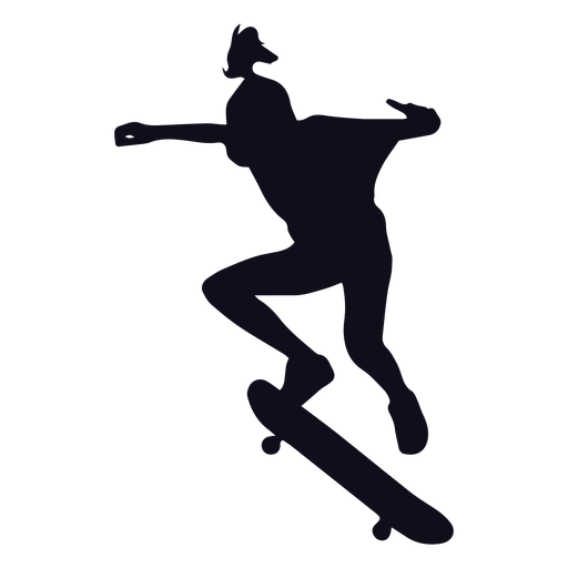 Woman skater silhouette Transparent PNG