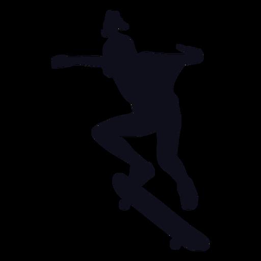 Woman skater silhouette