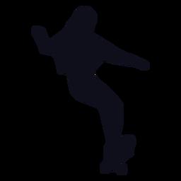 Woman skater tricks silhouette