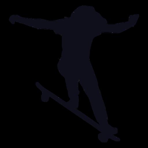 Woman tricks skating silhouette