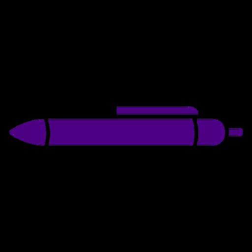 Icono de lápiz de escritura púrpura