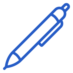 Writing pen stroke icon pen