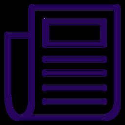 Icono de trazo de documento escrito