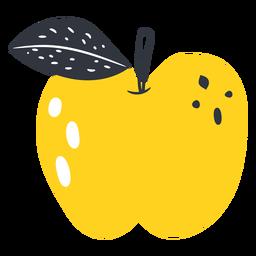 Gelber Apfel flach