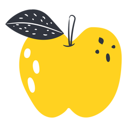 Yellow apple flat