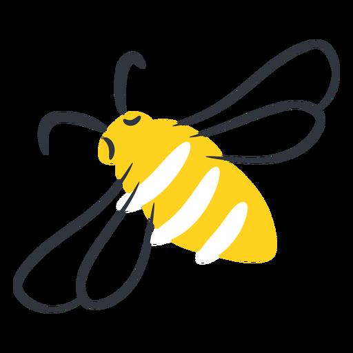 Yellow bee hand drawn